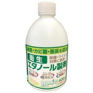 アサヒペン 衛生 エタノール製剤 (400ml) ウィルス対策、除菌、防カビ、消臭に|scbmitsuokun1972