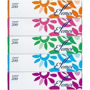 エルモア ティシュー (400枚(200組)×5個) 日用品 箱ティッシュ|scbmitsuokun1972