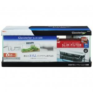 【J】 ジェックス グラステリア スリム600 6点セット GTS600 (1セット) 水槽セット|scbmitsuokun1972