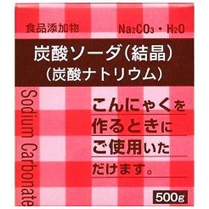 【y】 大洋製薬 食品添加物 炭酸ソーダ 結晶 (500g) 炭酸ナトリウム 洗濯、掃除 こんにゃく作りに|scbmitsuokun1972
