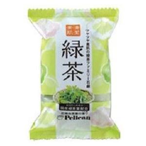 ペリカン石鹸  緑茶ファミリー石鹸 (80g) 固形石鹸 美容洗顔石鹸|scbmitsuokun1972