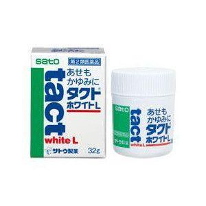 sato タクトホワイトL (32g) 【第2類医薬品】 皮膚用薬 あせも かゆみ 虫さされ じんましん 湿疹