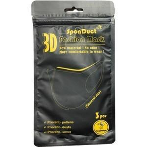 【カラー:ブラック】 洗える 3Dファッション ウレタン マスク レギュラーサイズ (3枚入) 洗浄して再利用可能な立体マスク|scbmitsuokun1972