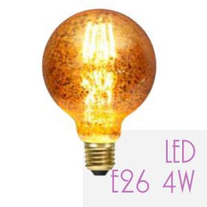 LED電球 E26 電球色 エジソン電球 アンティーク レトロ カフェ風 おしゃれ エジソンバルブ G95golden|sceneslani