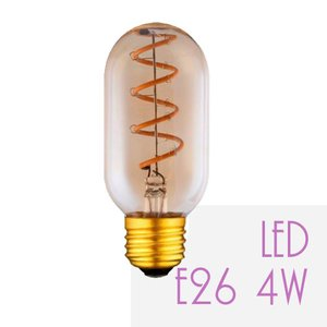 LED電球 E26 4W 電球色 エジソン電球 アンティーク レトロ カフェ風 おしゃれ エジソンバルブ ST64 Amber Glass|sceneslani