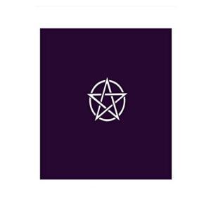 タロット占いのマストアイテム。タロットリーディング用のタロットクロスです。 シルクプリントの五芒星柄...