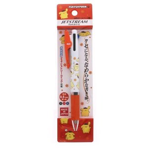 ポムポムプリン 3色ボールペン 0.5mm 油性 ジェットストリーム サンリオ [01] 〔メール便 送料無料〕 school-supply