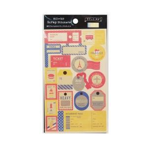 スクラップステッカー デコレーションシール チケットタグ アルバム [01] 〔メール便 送料無料〕 school-supply