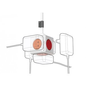 電源タップ パワーキューブ  PowerCube ドイツデザイン賞受賞 グレー4個口 USB 2口付 1.5m延長コード|scratch|03
