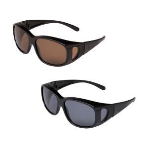 偏光オーバーサングラス スモーク/視界良好☆ギラつく反射光&紫外線をWカット!/UV対策グッズ|scratch