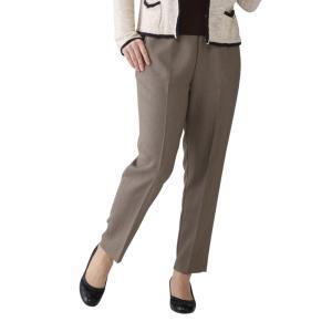 らくらく旅行パンツ(ヘリンボン)ウスモカ L/旅行に最適!軽くてシワになりにくいパンツ。/レディース(ボトム)オールシーズン|scratch