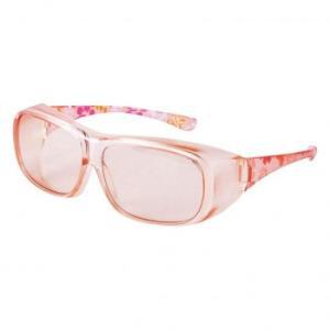 メラニンオーバーグラス超弾性ピンクベージュ/光から目を守る素敵な伊達メガネ。/UV対策グッズ|scratch