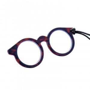 メガネ型ペンダントルーペ  ブラウン 2.0倍/メガネの型をしたおしゃれなペンダントルーペ。/介護用品|scratch