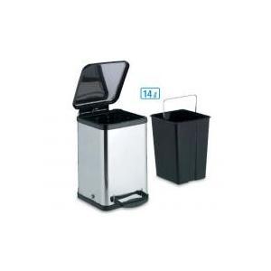 DS-238-614-0 ペダルボックス角型14L/ステンレス素材の衛生的なペダル式衛生容器。/衛生用品|scratch