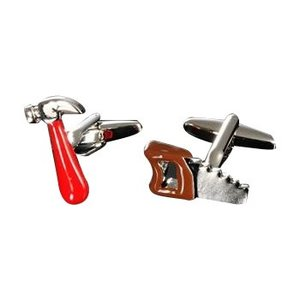 ユニークカフス ハンマー&ソウ・81862500/さりげなく手元に飾れば、センスが光ります!/アクセサリー|scratch