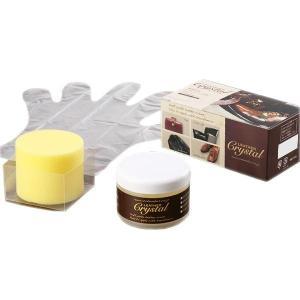 コロンブス 保革クリーム ツヤ出し レザークリスタル100 100g/皮革に栄養と自然な光沢を与え、リフレッシュさせるクリーム。/靴・インソール scratch
