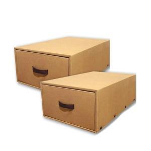 クラフト衣装ケース 押入れ衣装ケース 2個組 N-K-43-N-2P/押入れの衣類収納に便利な引出し型の衣装ケース。/押入収納 scratch