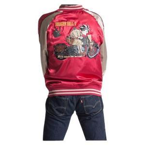 ドラゴンボールZ メンズスカジャン バイク柄 A21・レッド 1113-701/「ドラゴンボールZ」のイラストが刺繍されたスカジャン☆/ナイトウエア scratch