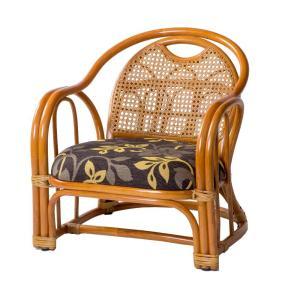 ラタン アームチェア ロータイプ 座面高さ26cm GNM20512/和室にも洋室にもなじむ籐製の座椅子。/家具 イス テーブル|scratch