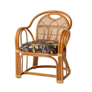 ラタン アームチェア ミドルタイプ 座面高さ35cm GNM20513/和室にも洋室にもなじむ籐製の座椅子。/家具 イス テーブル|scratch