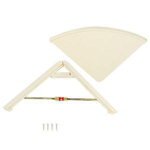 AP-045W ツッパリ三角棚アイボリー 00112601-001/コーナーの空間利用に使える!/家具 ラック その他|scratch