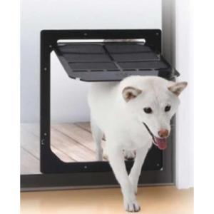 網戸専用 犬猫出入り口 Lサイズ(中型犬用) PD3742/固定ネジで簡単に取り付けられる網戸専用のペットドア。/アイデアペット用品|scratch