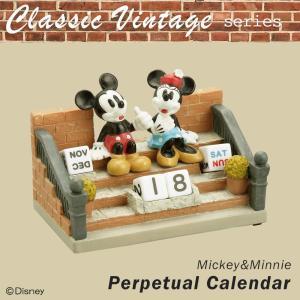 セトクラフト Classic Vintage series 万年カレンダー(ミッキー&ミニー) SD-5575-350/カレンダー|scratch