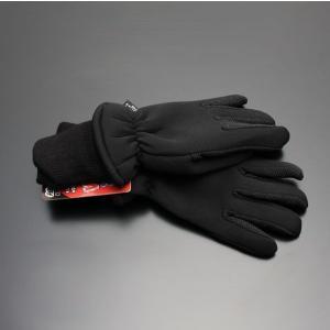 【メール便】 軽量温暖 ウィンター グローブ ブラック 袖付き バイク 防寒 手袋 袖リブ 3Mシンサレート×クロロプレンゴム screate