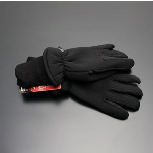 【通常便】 軽量温暖 ウィンター グローブ ブラック 袖付き バイク 防寒 手袋 袖リブ 3Mシンサレート×クロロプレンゴム screate