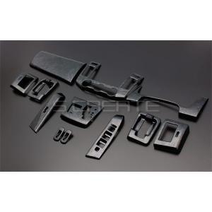 3D立体インテリア内装ウッドパネル MPV(LY3P) 黒木目調 13ピース/13P / インパネ 内装|screate