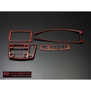 3D立体インテリア内装ウッドパネル エルグランド(E51(後期用)) 柾木目調 4ピース/4P / インパネ 内装|screate
