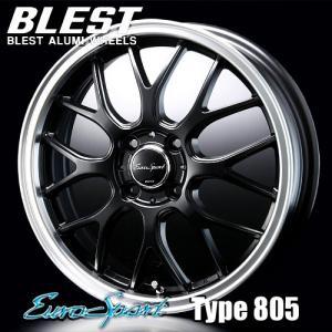 BLEST(ブレスト) ユーロスポーツ タイプ 805 アルミホイール(1本) 15x5.0 +45 100 4穴(セミグロスブラック) / EuroSport Type 805 15インチ|screate