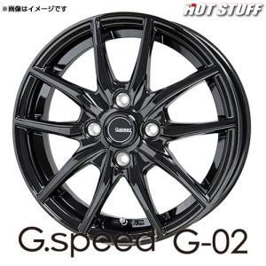 Gスピード G・02 アルミホイール(1本) 14x5.5 +38 100 4穴(メタリックブラック) / 14インチ G.speed G-02 G02|screate