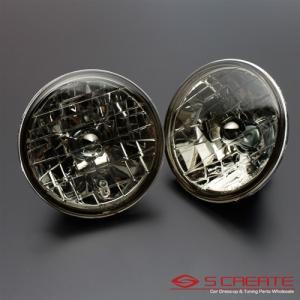 高品質!クリスタルスモークヘッドライト ジムニー(SJ30、SJ40、JA51、JA71、JA11、JB31、JA12、JA22) / ガラスヘッドライト H4タイプ|screate