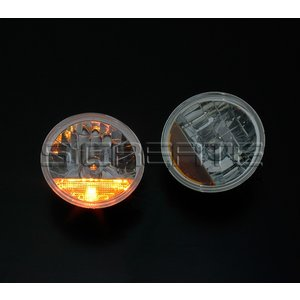 デュアルスパーク!丸型クリスタルガラスヘッドライト+オレンジレンズ/ジムニー・ジムニーシエラ|screate