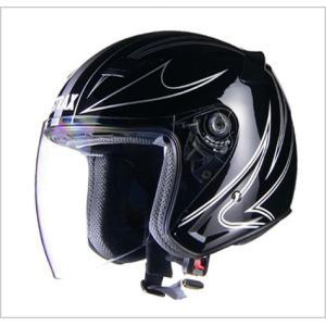 【リード工業】 STRAX SJ-9 ジェットヘルメット ブラック /LEAD ストラックス