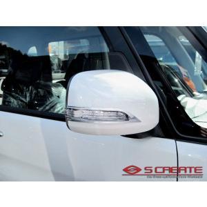 【JDM】ルクラカスタム(L455.465S)専用 ドアミラーウインカー用 クロームメッキリム枠|screate