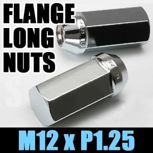 KYO-EI フランジロングナット(袋) M12xP1.25 クロームメッキ 60°テーパー 21HEX 103-50/協永産業 キョーエイ KYOEI|screate
