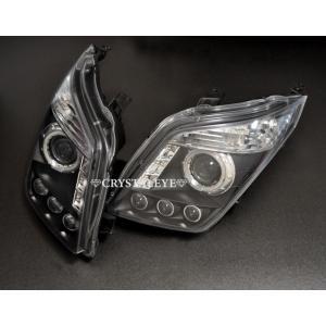 【送料無料!!】レクサス仕様ワゴンR(MH23)3連SMDダイヤモンドリング プロジェクターヘッドライト ブラック【クリスタルアイ】|screate