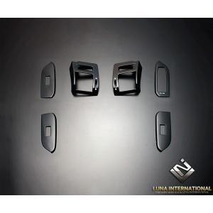 ランドクルーザープラド 150系 2009/9〜 ピアノブラック (6ピース[6P]) 3D立体インテリアパネル / ルナ インターナショナル|screate