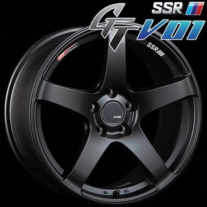 SSR GTV-01 アルミホイール(1本) 17x7.0 +42 100 4穴(フラットブラック) / GT ジーティー 1ピース 1PIECE 1P GTV01 17インチ|screate