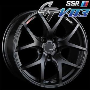 SSR GTV-03 アルミホイール(1本) 18x7.5 +48 114.3 5穴(フラットブラック) / GT ジーティー 1ピース 1PIECE 1P GTV03 18インチ|screate