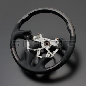 エルグランド E52 [2010/8〜] スポーツタイプ ウッドコンビステアリング (シルバーローズウッド/ブラック) / steering ハンドル ホイール|screate
