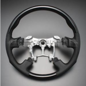 クラウン GRS200系 [2008/2〜2012/12] スポーツタイプ ウッドコンビステアリング (ピアノブラック) / steering ハンドル ホイール|screate