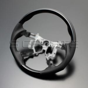 エスティマ ハイブリッド AHR20W [2006/6〜] スポーツタイプ ウッドコンビステアリング (ピアノブラック) / steering ハンドル ホイール|screate