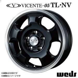 ヴィセンテ 05 NV アルミホイール(1本) 14x5.0 +42 114.3 4穴(ブラック/ポリッシュ) / 14インチ VICENTE-05 NV|screate