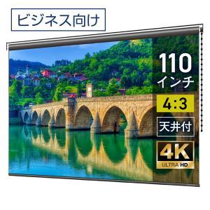 プロジェクタースクリーン チェーンスクリーン 110インチ(4:3) マスクフリー BCH2236FEH screen-theaterhouse