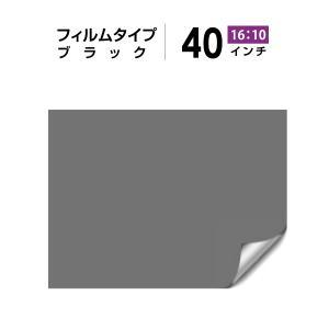 シアターハウス プロジェクタースクリーン リア投影 40インチ フィルムタイプ (16:10) ブラック BF-538-862|screen-theaterhouse