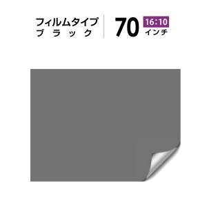 シアターハウス プロジェクタースクリーン リア投影 30インチ フィルムタイプ (16:10) ブラック BF-942-1508|screen-theaterhouse