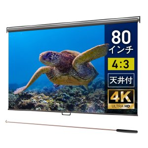 プロジェクタースクリーン スプリングスクリーン 80インチ(4:3) マスクフリー BSP1627F...